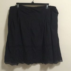 2/$15 Fashion Bug Midi Embroidered Cut-out Skirt